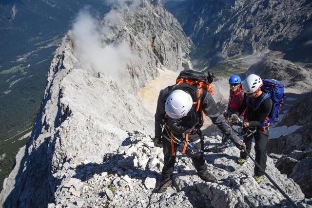 Germany Zugspitze View near summit