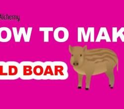 How to Make a Wild Boar in Little Alchemy
