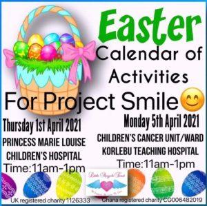 Easter Activities Calendar 2021