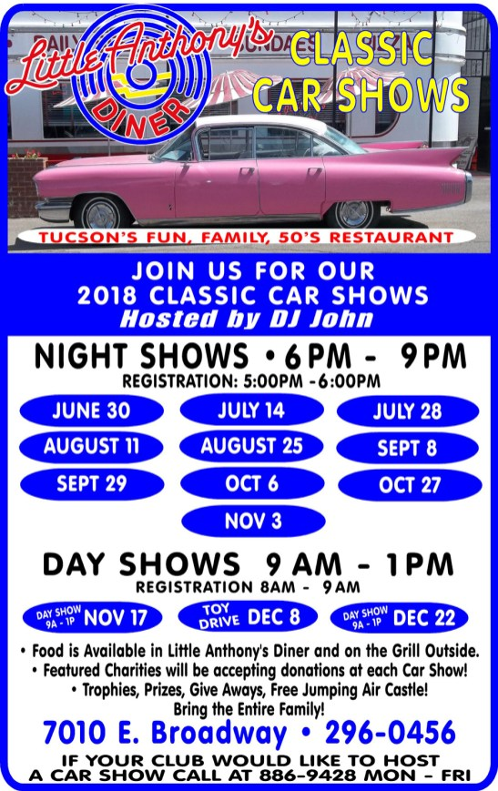 Little Anthonys Diner CAR SHOWS - Tucson classic car show 2018