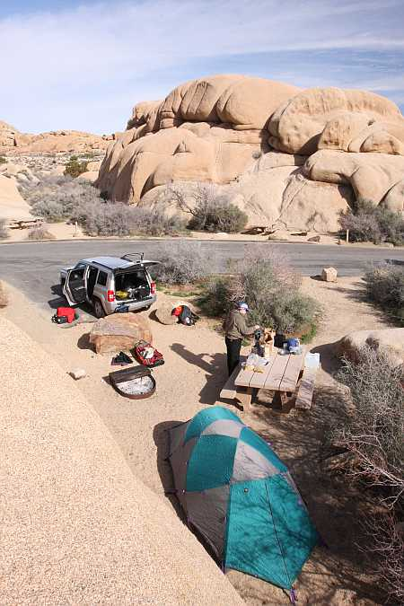 campsite at jumbo
