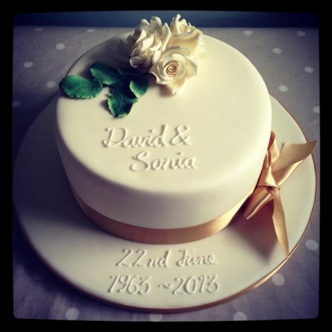 Golden Wedding Anniversary Cake Little Bear Cakery