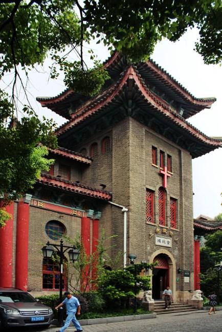 Hongde Tang - Shanghais einzige christliche Kirche mit chinesischem Design