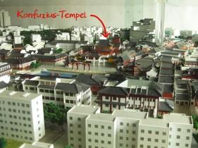Modell vom Fuzimiao-Gelände und Umgebung