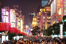 Nanjing Lu am Nationalfeiertag
