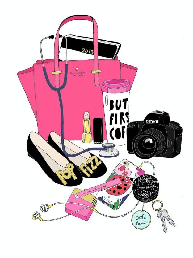 Little-Big-Bell's-blogger-handbag-drawn-by Kristina-Hultkrantz