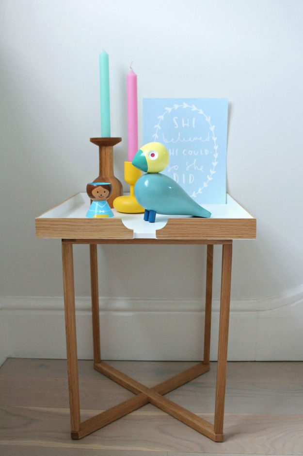 Colourful-bedside-tray-table-styled-by-Geraldine-Tan-Little-Big-Bell