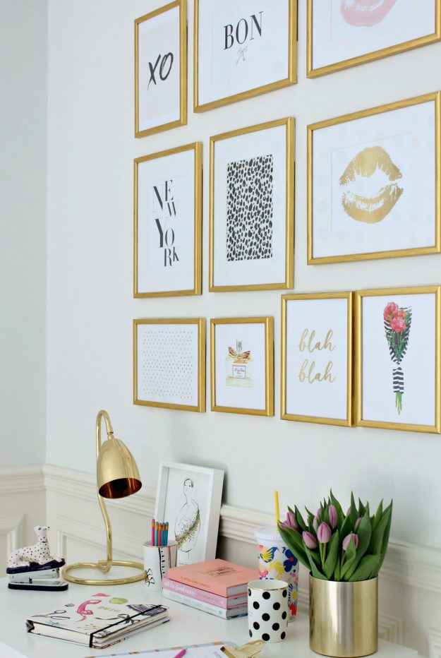Wall-of-framed-prints-using-3M-Command-strips-by-Little-Big-Bell