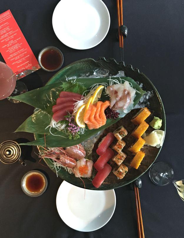 Sushi platter at Aqua Kyoto
