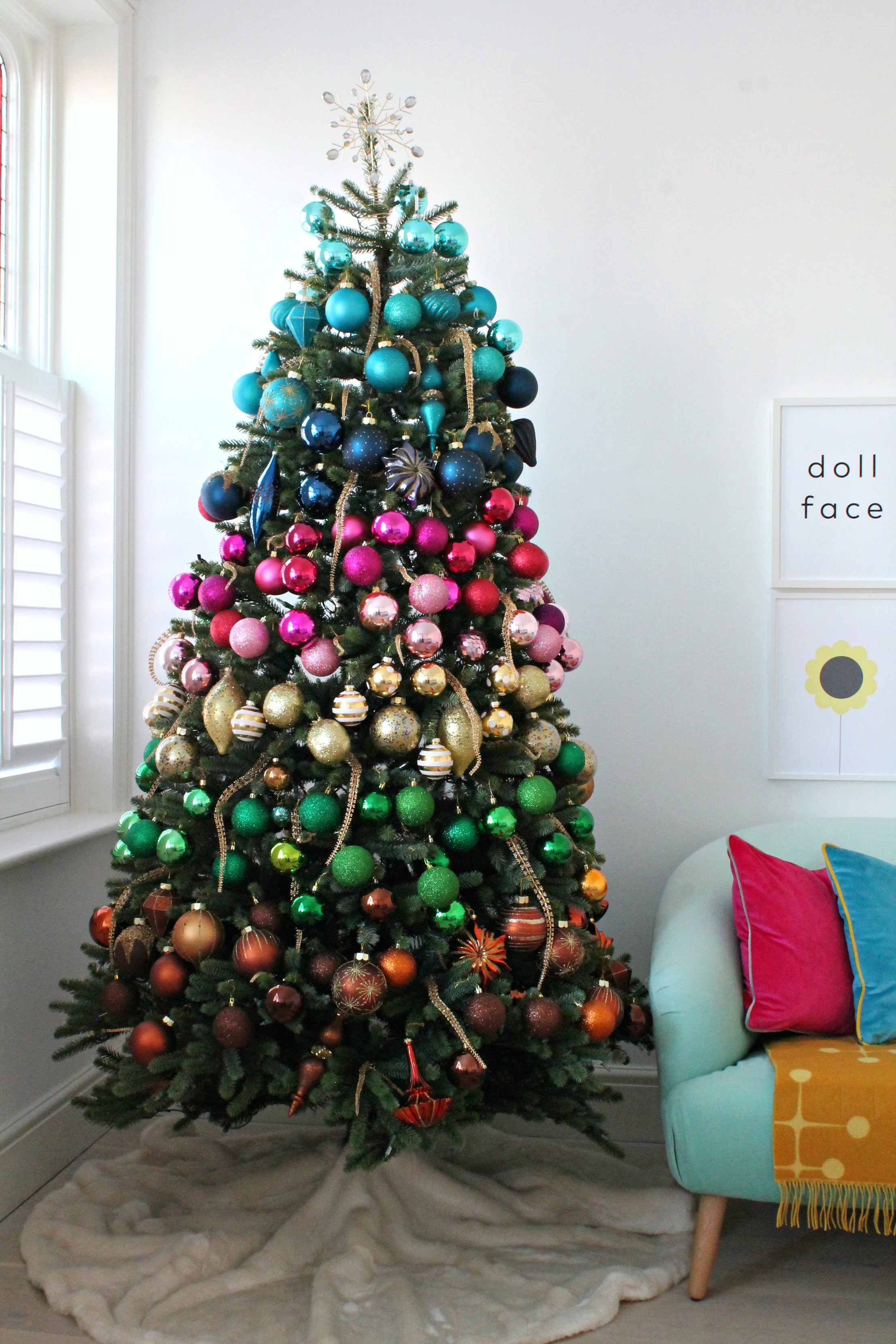 Balsam Hill Christmas Tree.Littlebigbell My Rainbow Faux Christmas Tree And Baubles