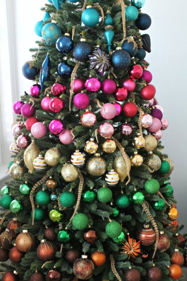 rainbow faux christmas tree