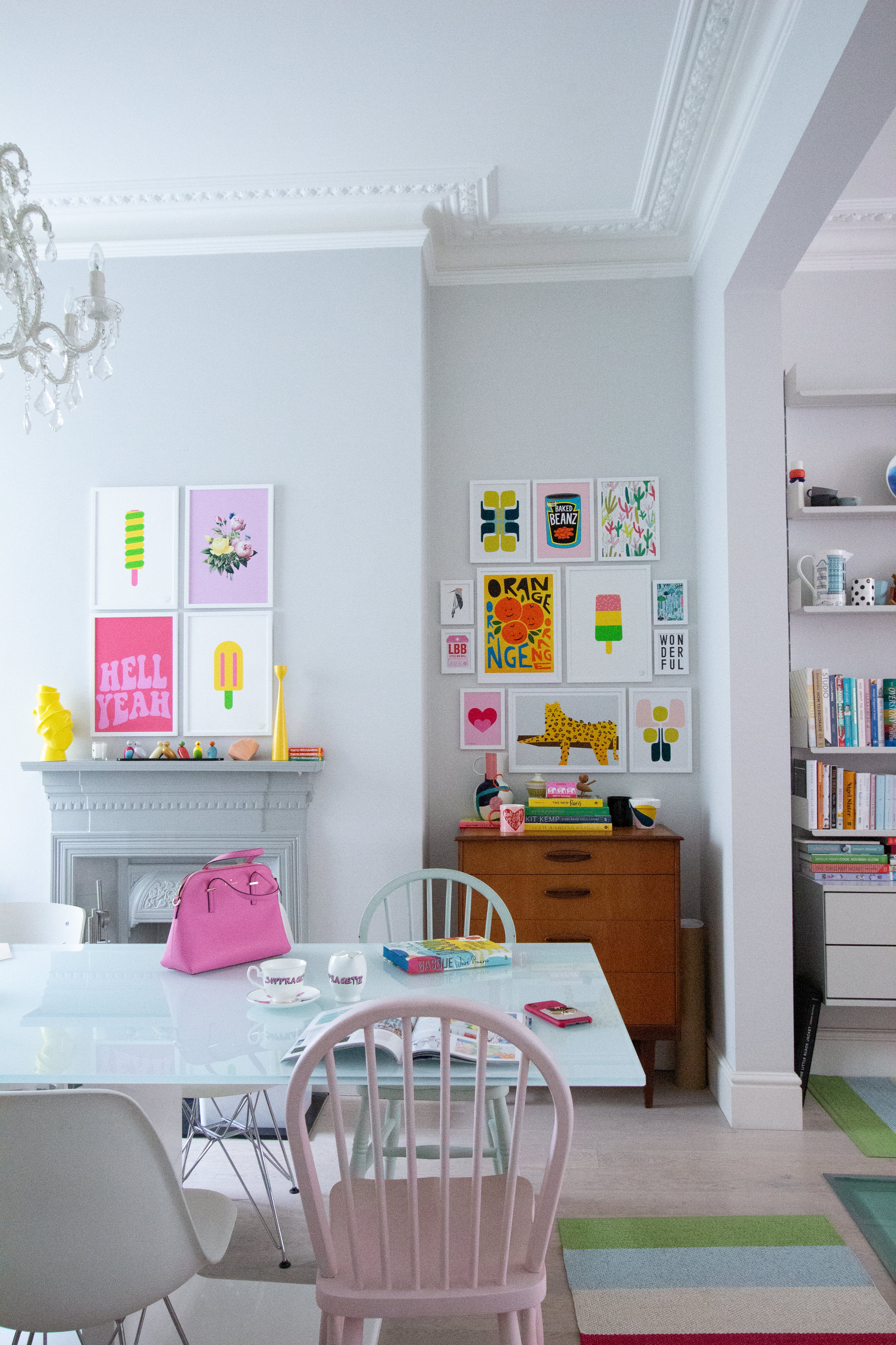 I Love How The Art Wall Has Made My Dining Room Look So Bright And Cheerful What Do You Think