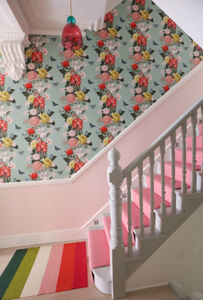 pink stair runner from Bowloom
