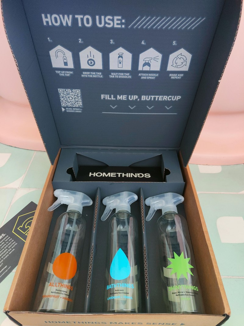 Eco friendly cleaning products by Homethings.