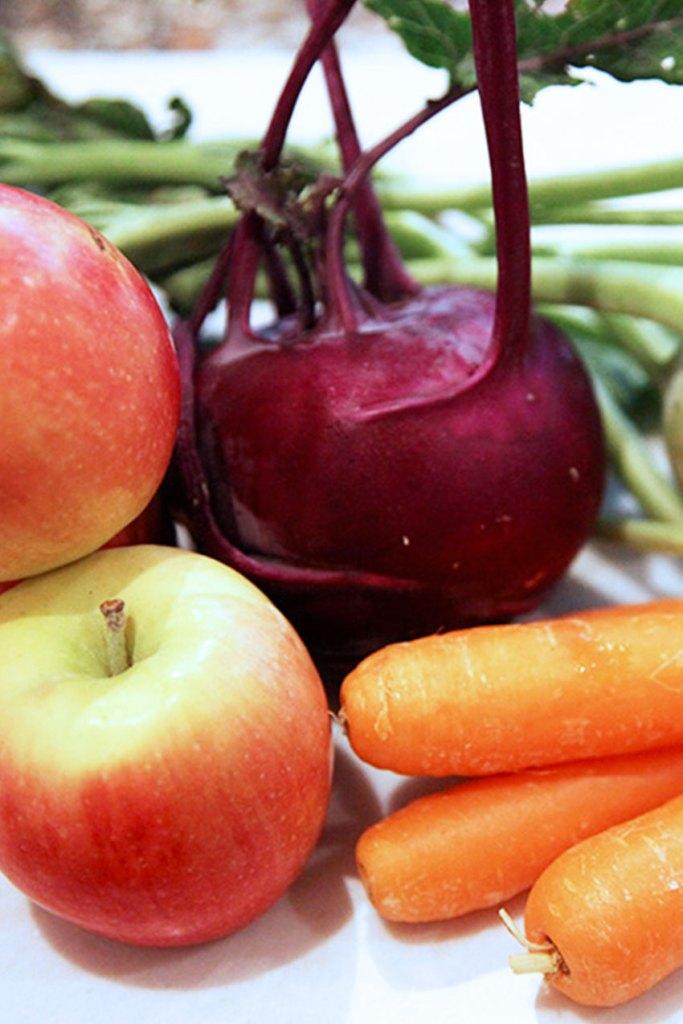 Kohlrabi, Carrot & Apple Slaw