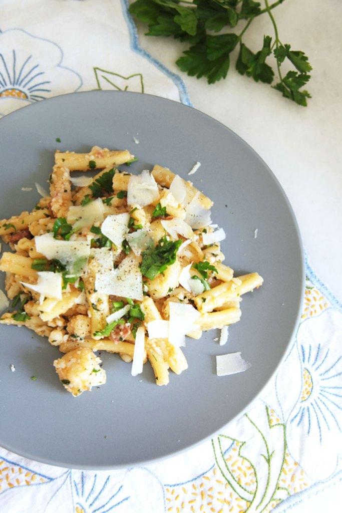 Pasta with Cauliflower and Pancetta