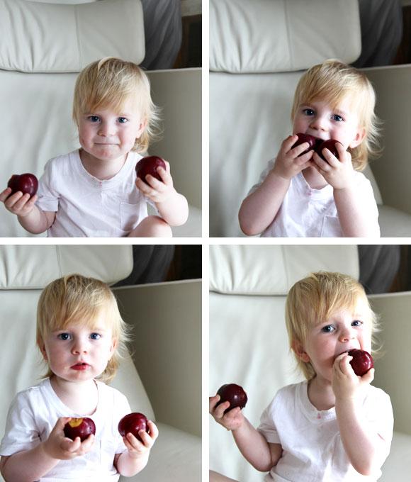 plum breakfast crumble