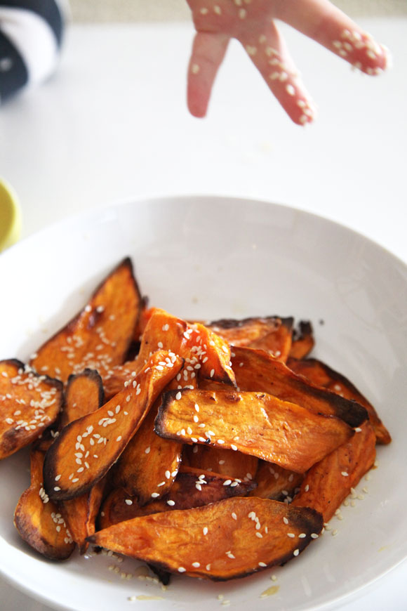 caramelised sweet potato