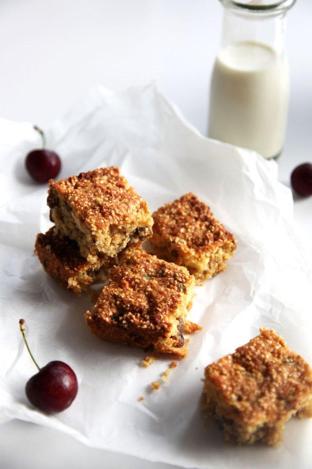 coconut and puffed amaranth muesli squares