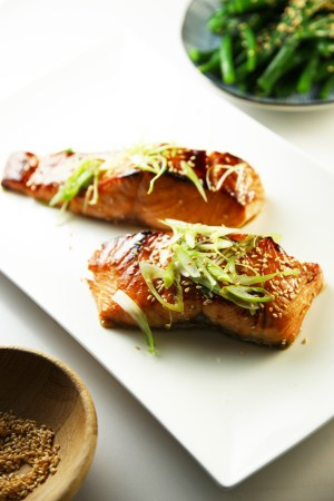 Teriyaki Salmon - only 4 ingredients