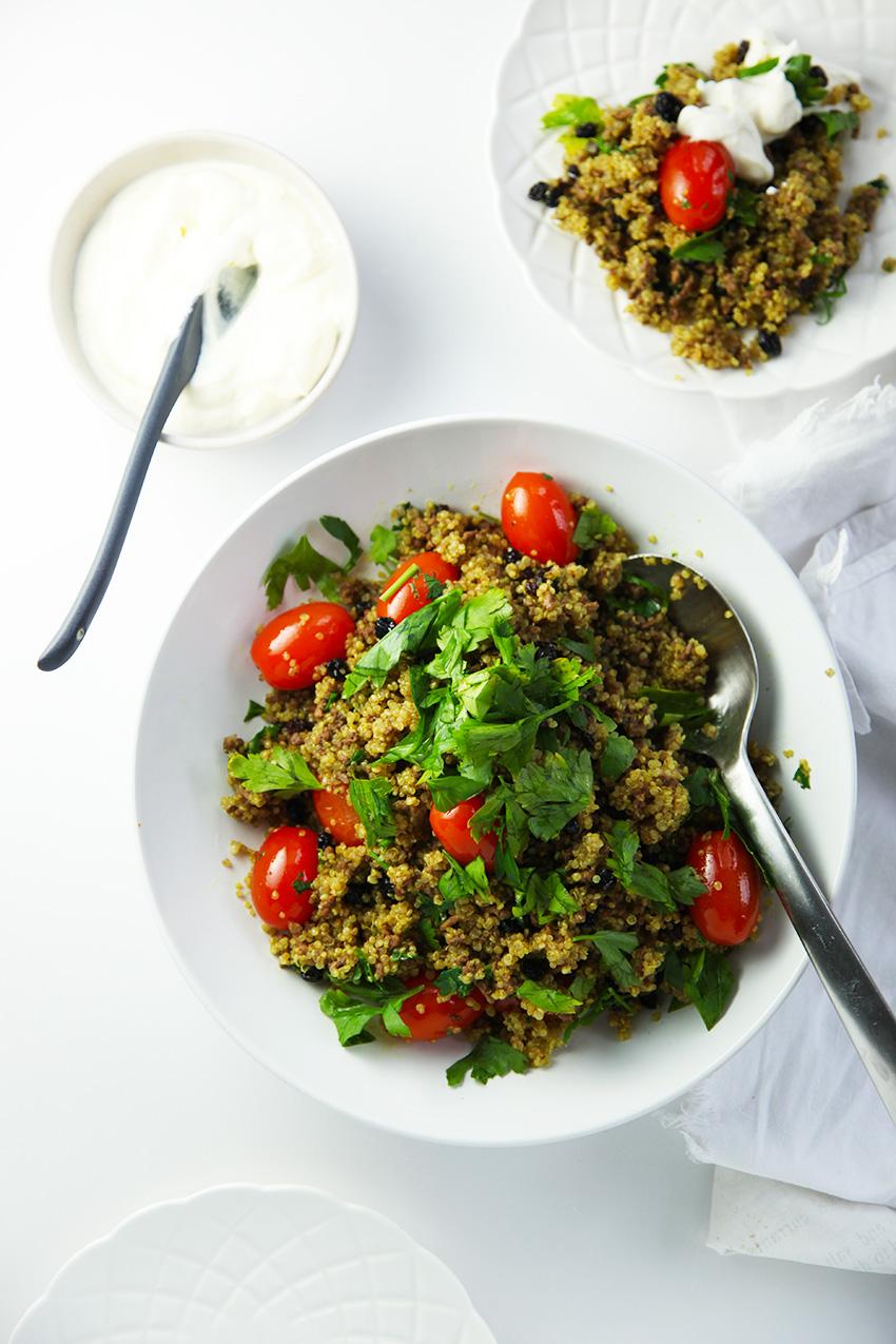 Spiced Lamb Quinoa Pilaf