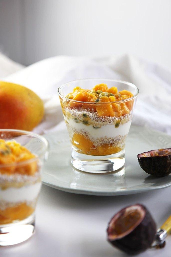 Mango and Puffed Amaranth Parfait