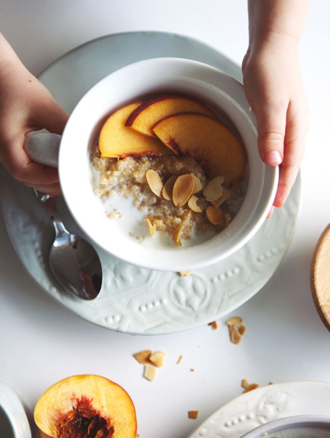 Spiced Peach Quinoa Porridge