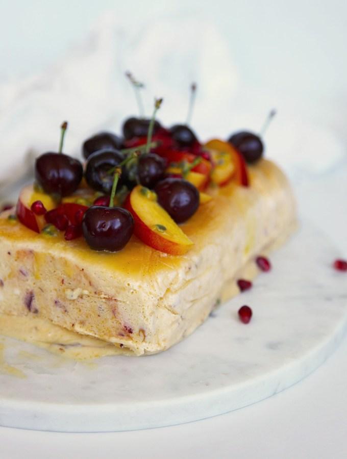 Nectarine and Honey Semifreddo