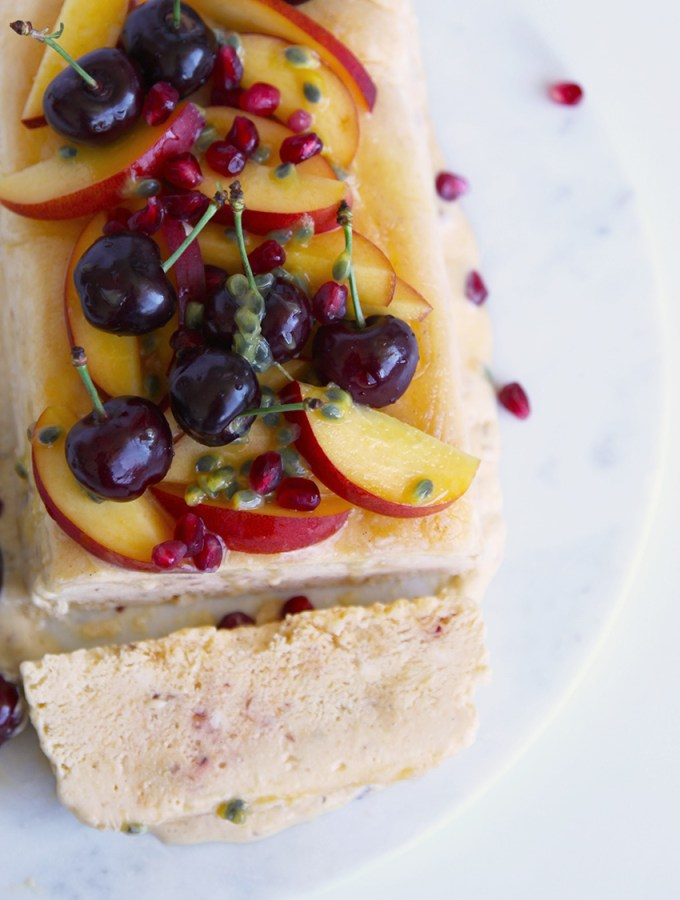 Nectarine and Honey Semifreddo