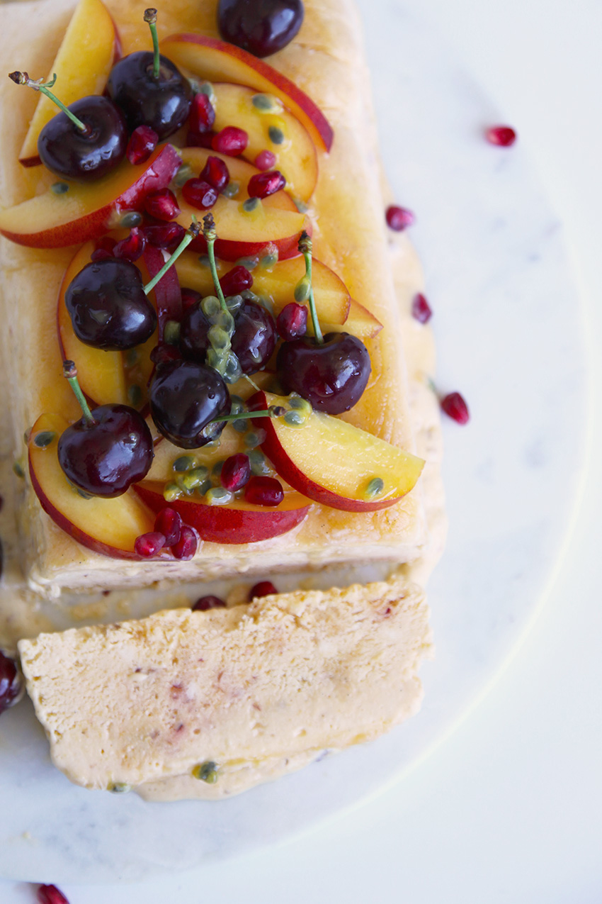 Nectarine and Honey Simifreddo with fresh seasonal fruit - easy to make and a perfect for the whole family
