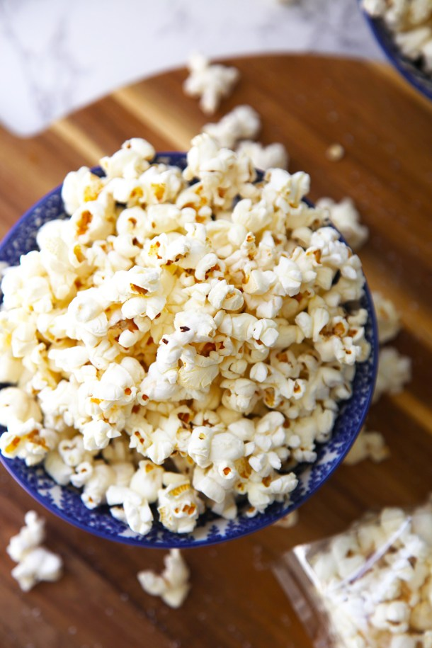 Perfect stove top popcorn - the ultimate healthy snack