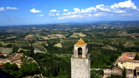 The views over the Tuscan hill from San Gimignano are simply stunning
