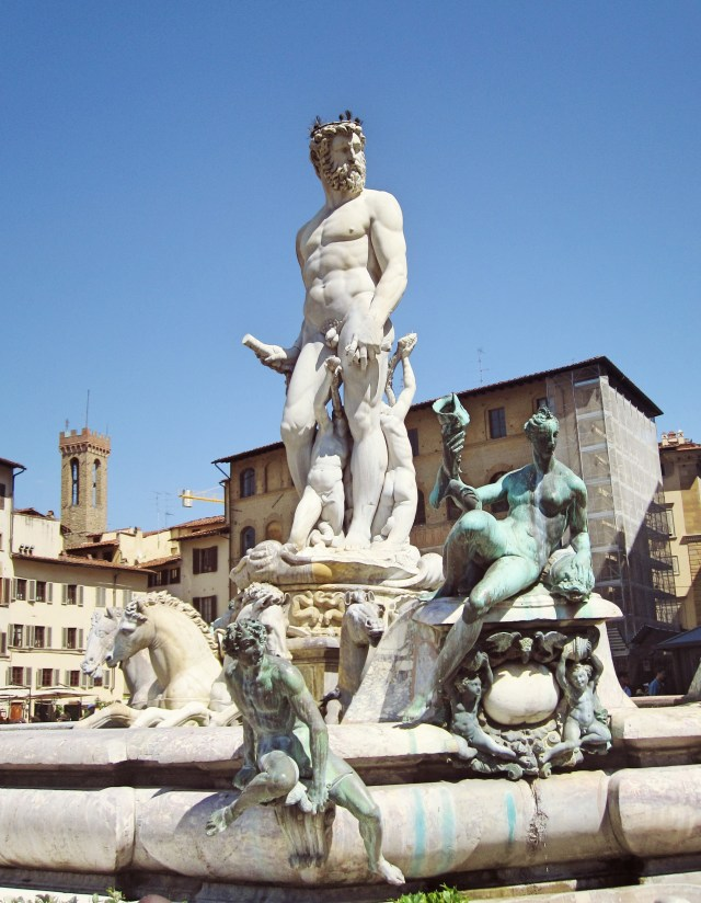 The fountain of Neptune on the Piazza della Signoria