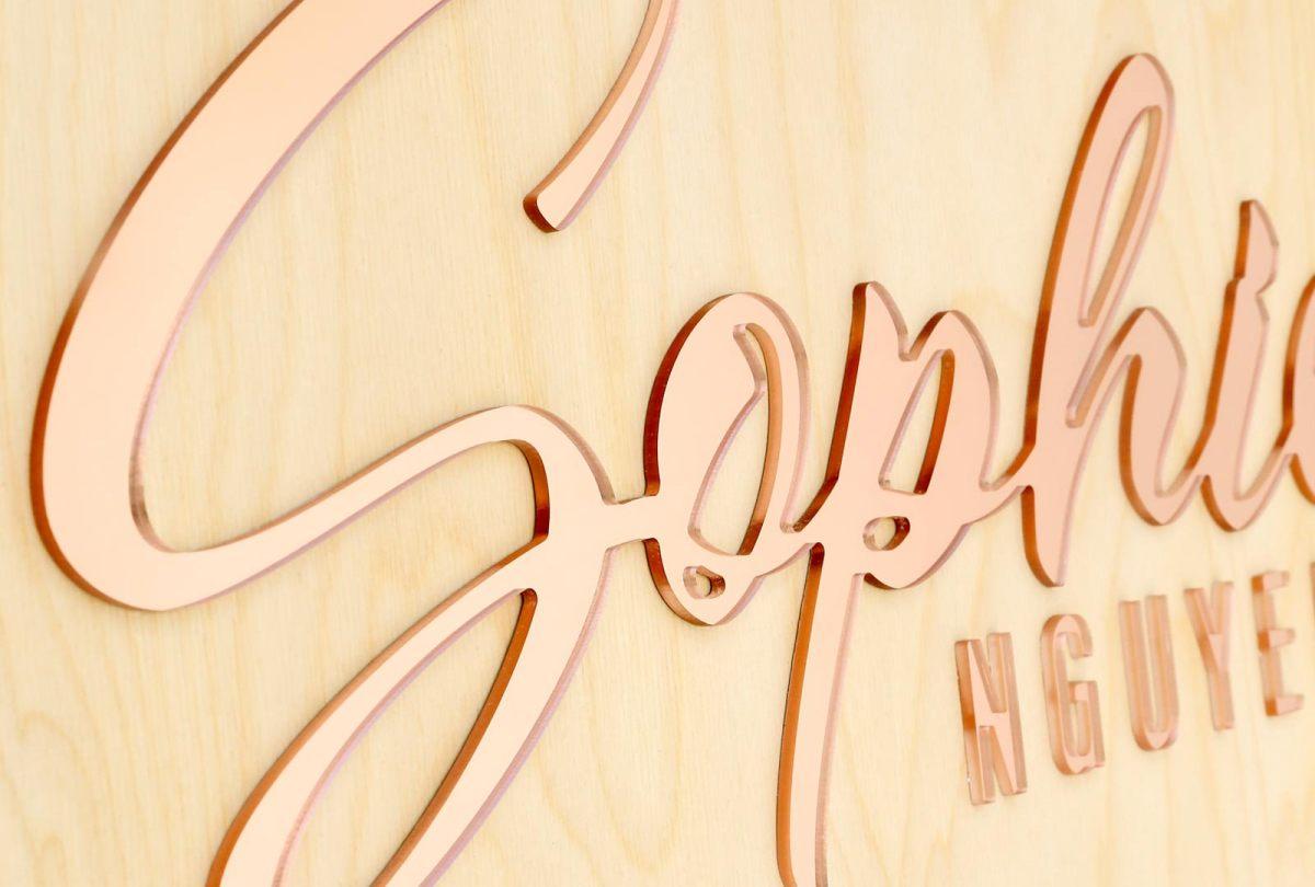 Acrylic on Birch Name Plaque