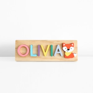Fox Wooden Name Puzzle