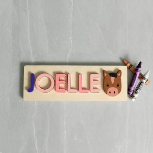 Horse Wooden Name Puzzle