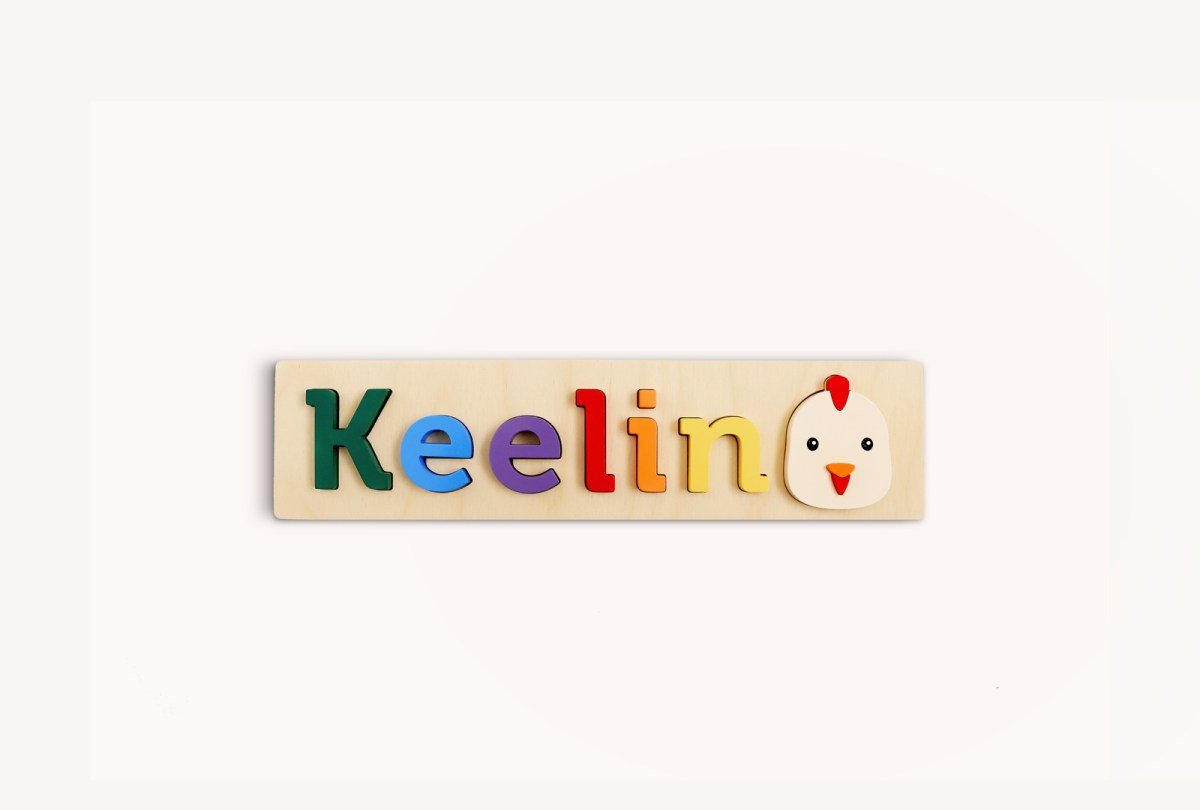 Chicken Wooden Name Puzzle