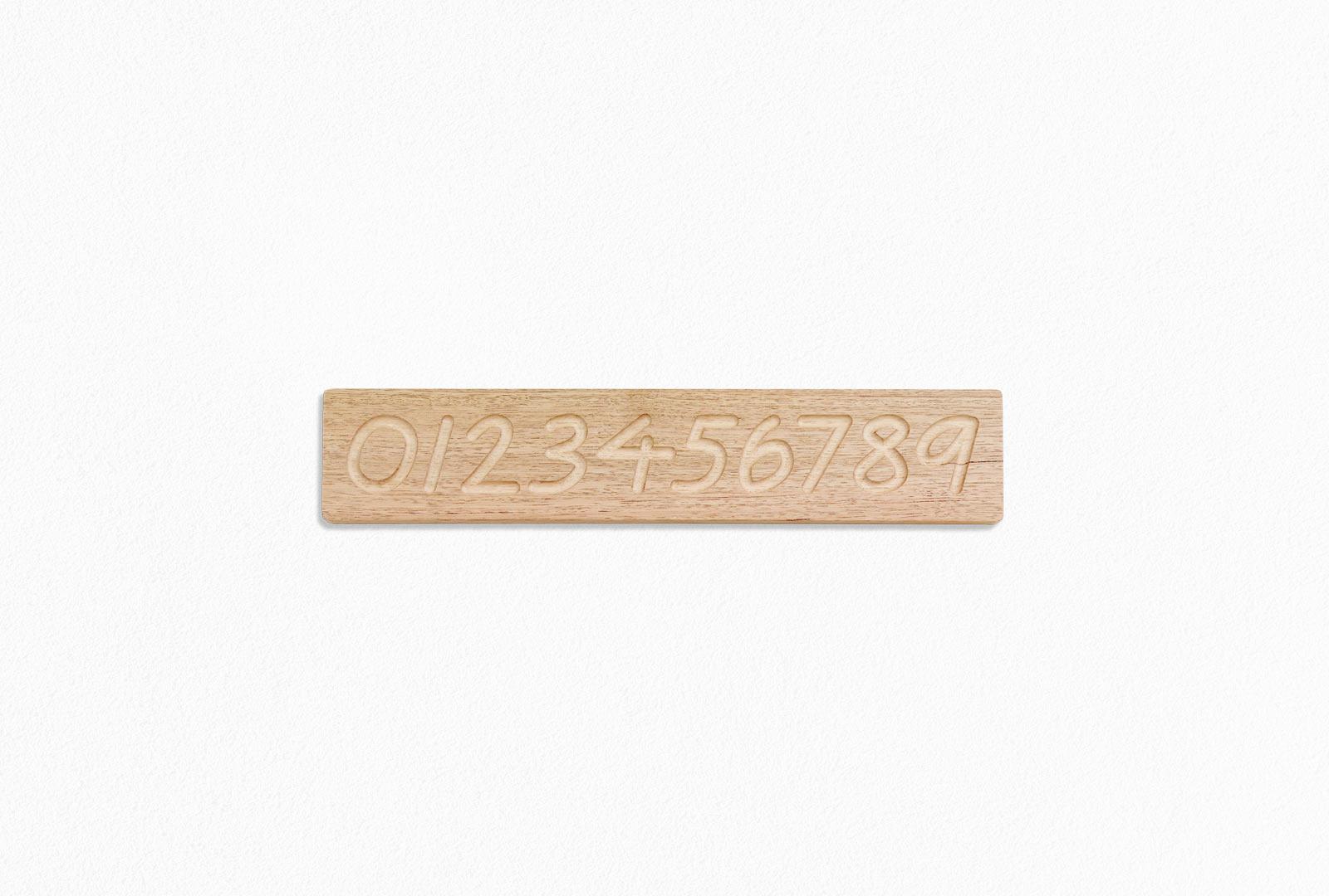 Hardwood Number Board
