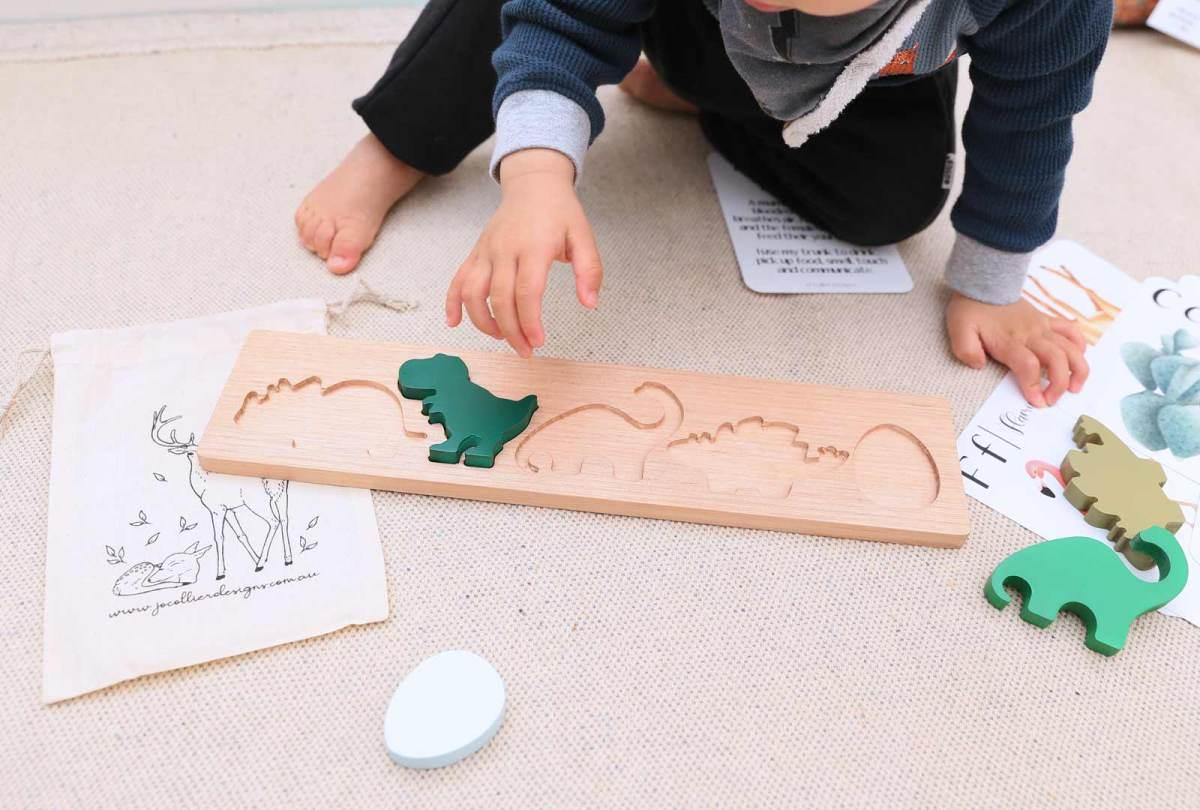 Painted Dinosaur Puzzle