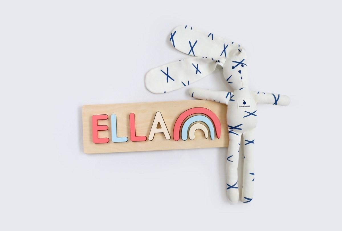 Rainbow Name Puzzle