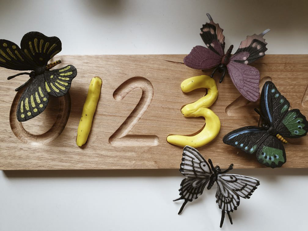 Wooden Counting Tracing Board