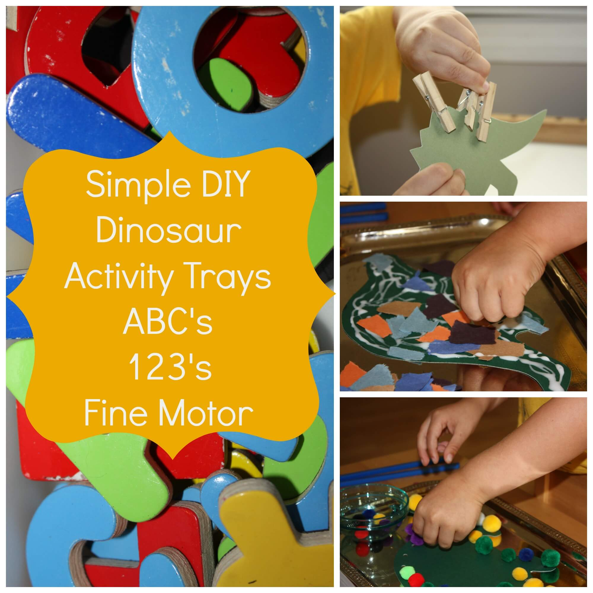 Dinosaur Activity Trays