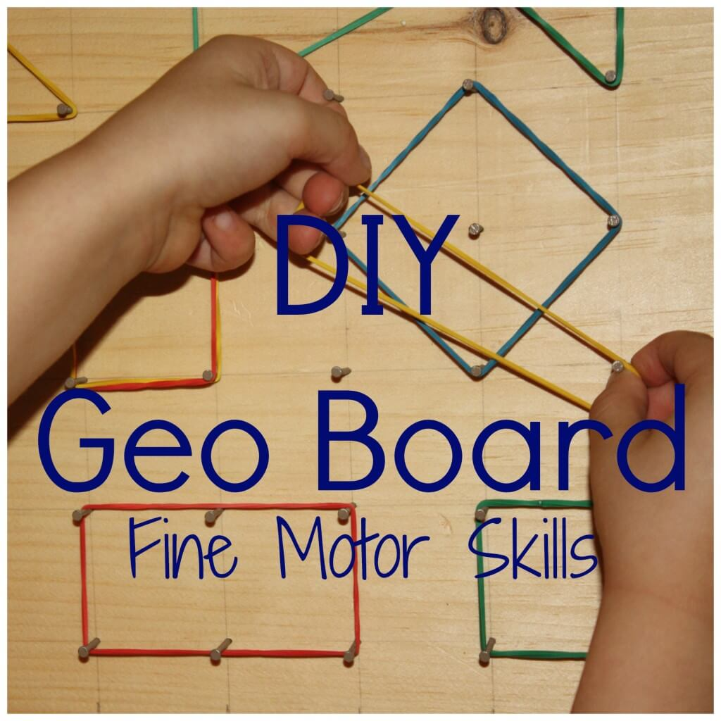 Diy Simple Geo Board For Fine Motor And Stem Learning