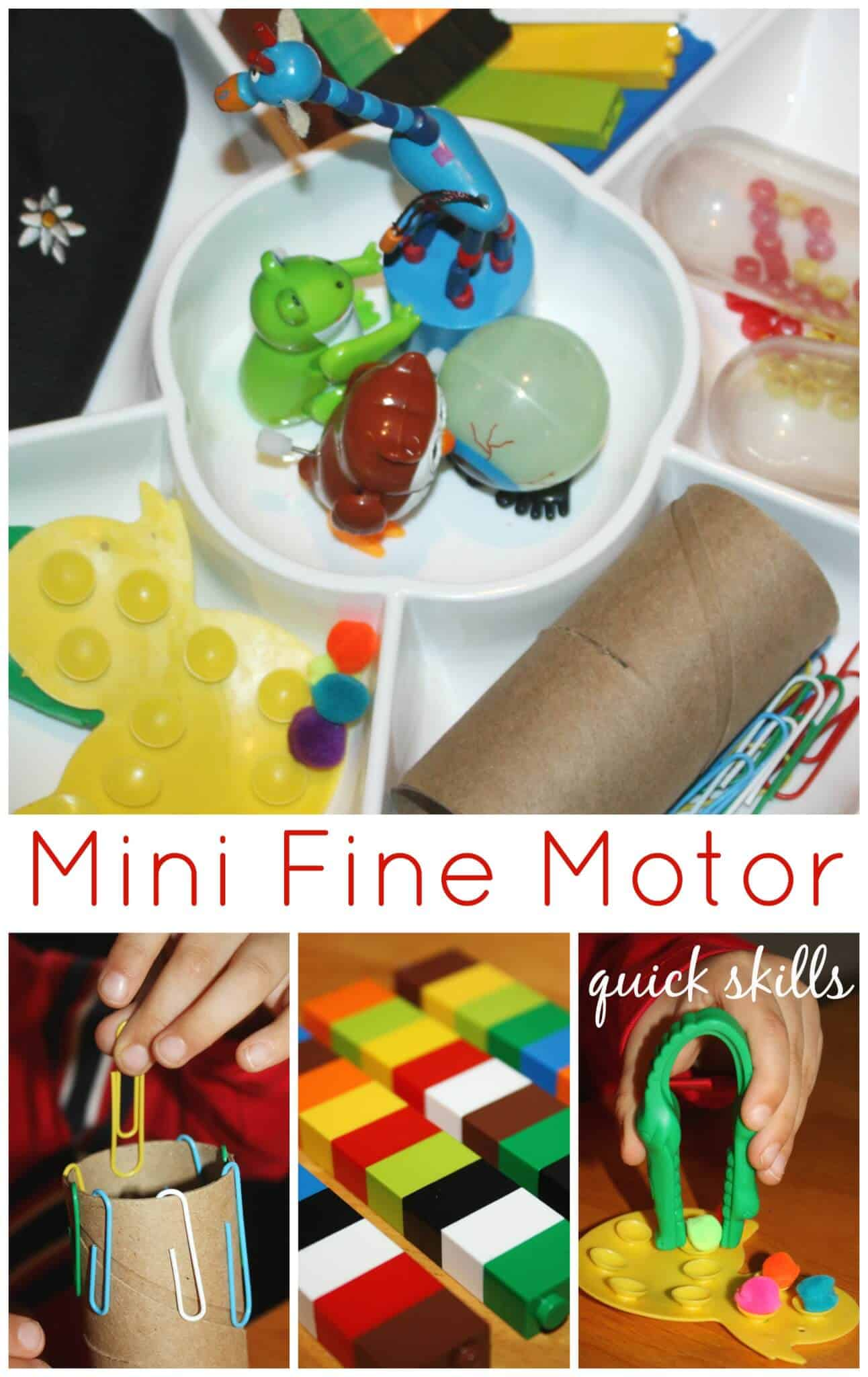 Mini Fine Motor Skills Activity Tray Fine Motor Friday