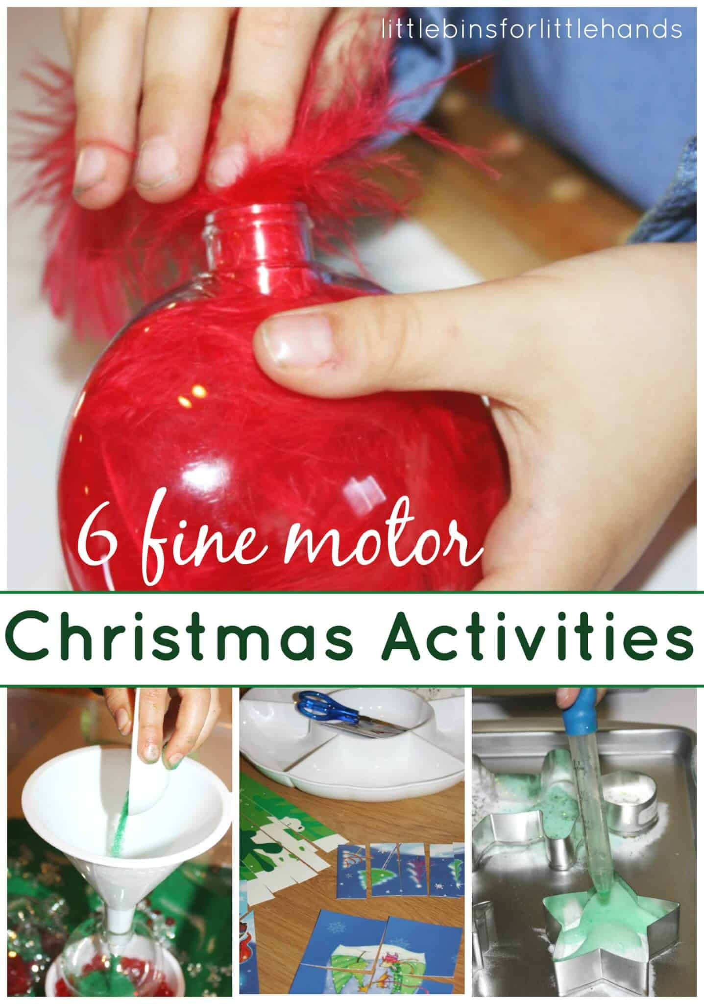 Preschool Christmas Fine Motor Activities