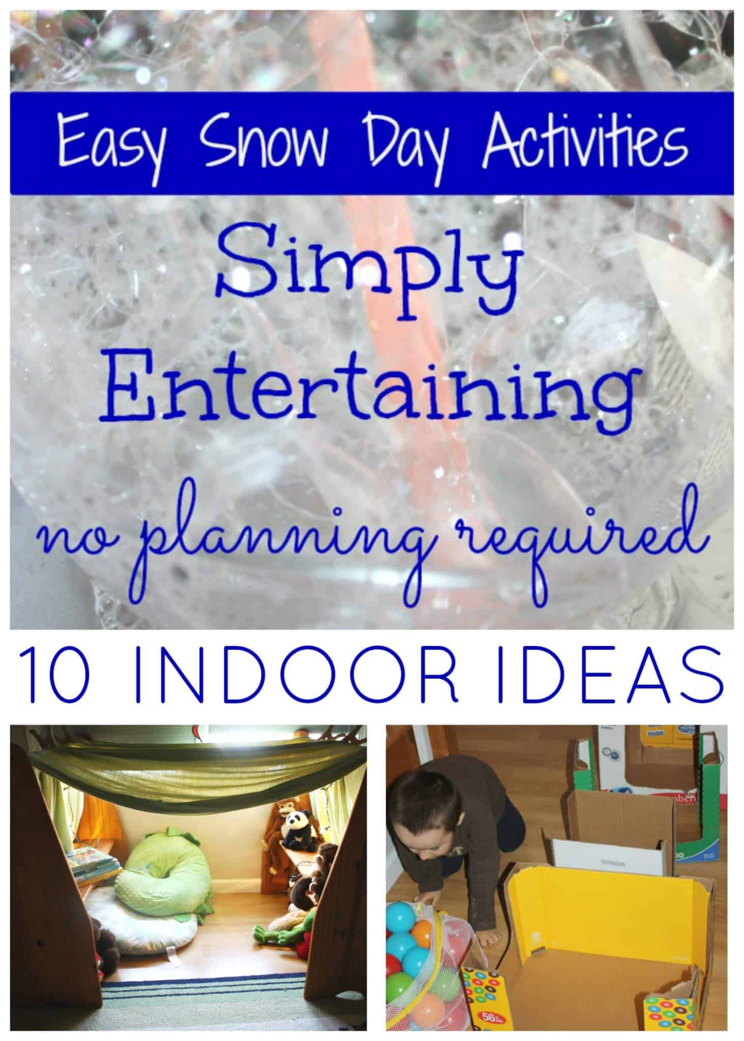 Snow Day Winter Activities Busy Kids Ideas