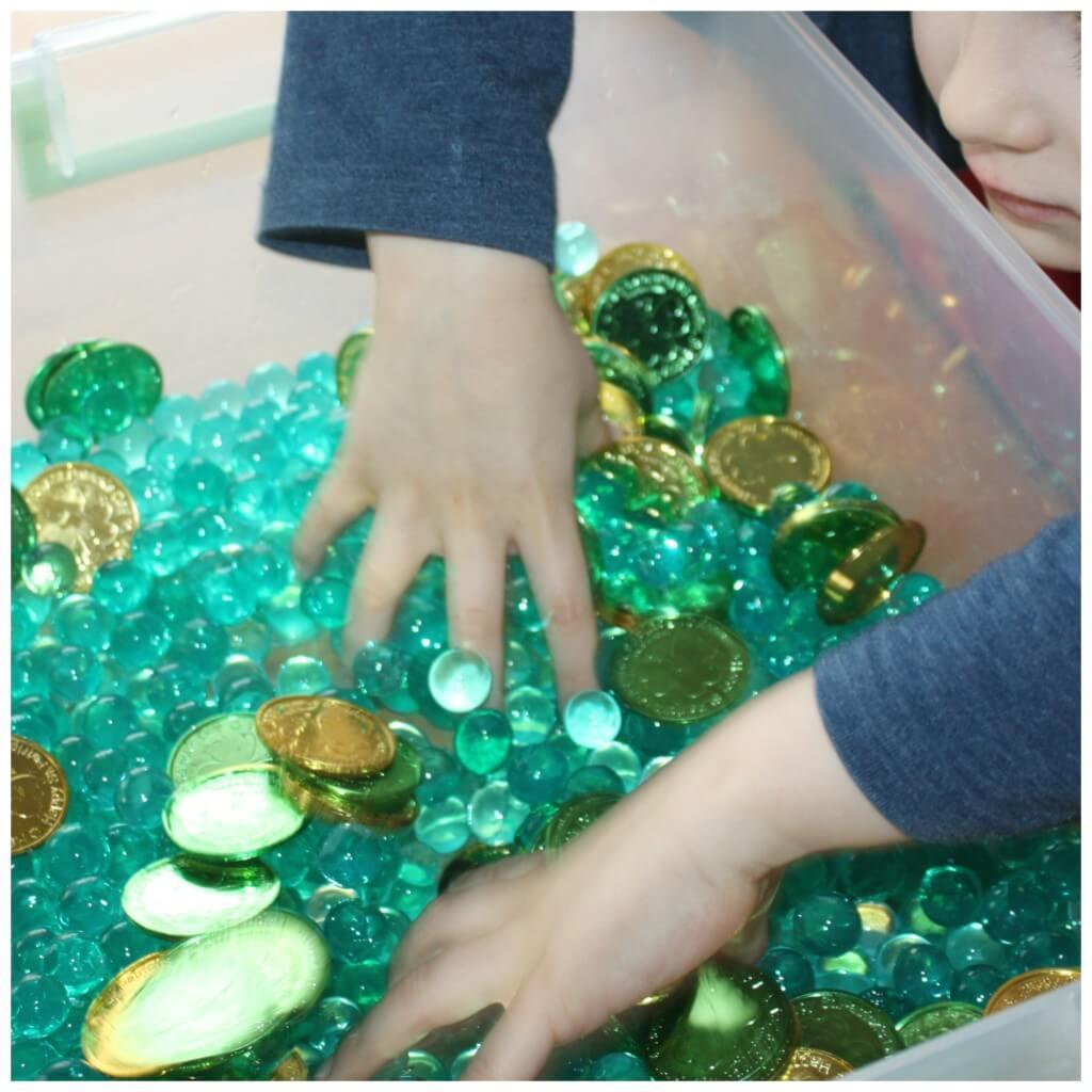 St Patricks Day Sensory Bin Math Game Activity