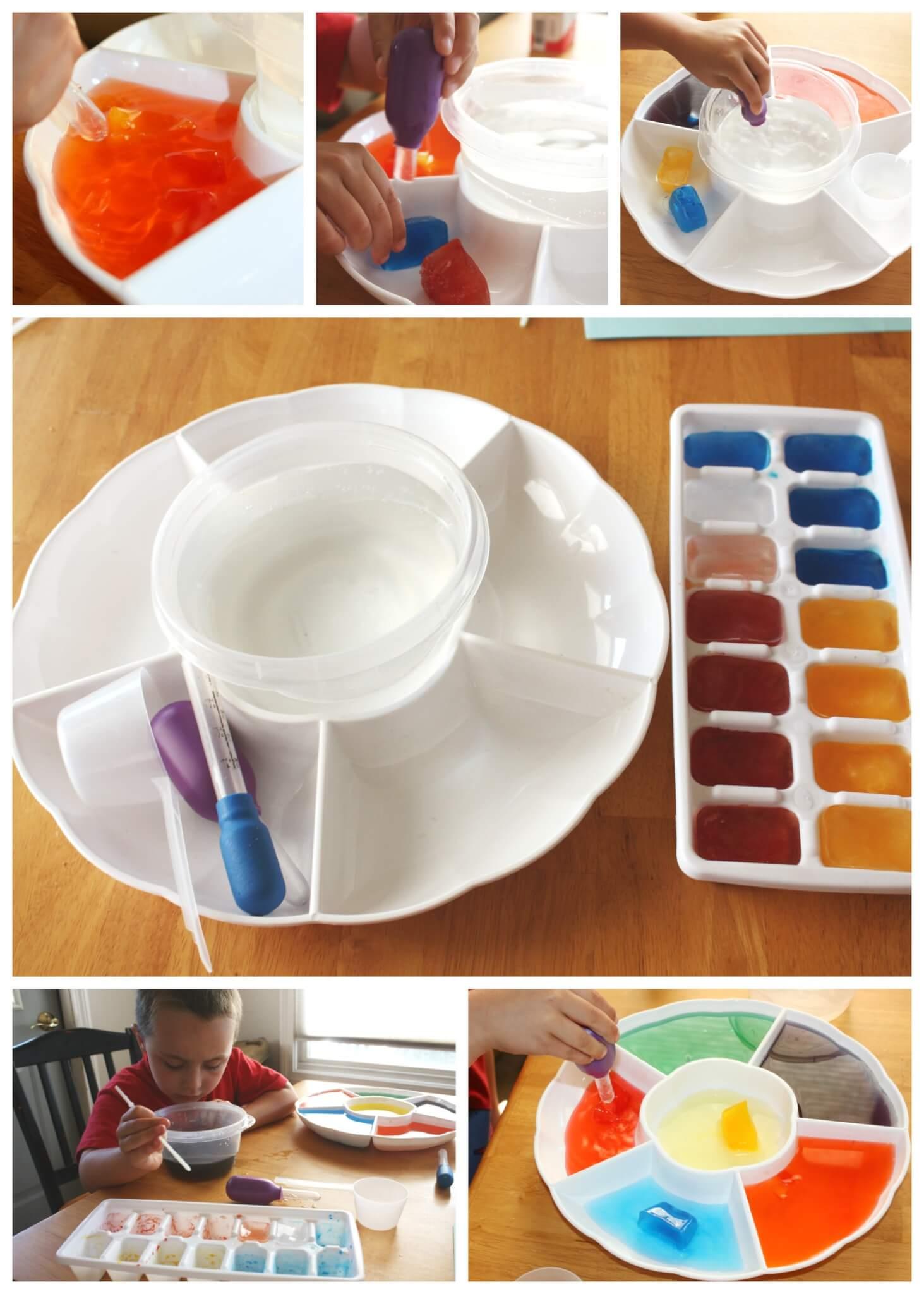 Frozen Color Mixing Science Activity