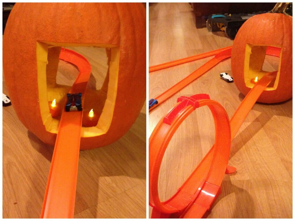 Hot Wheels Pumpkin Tunnel Stem Challenge