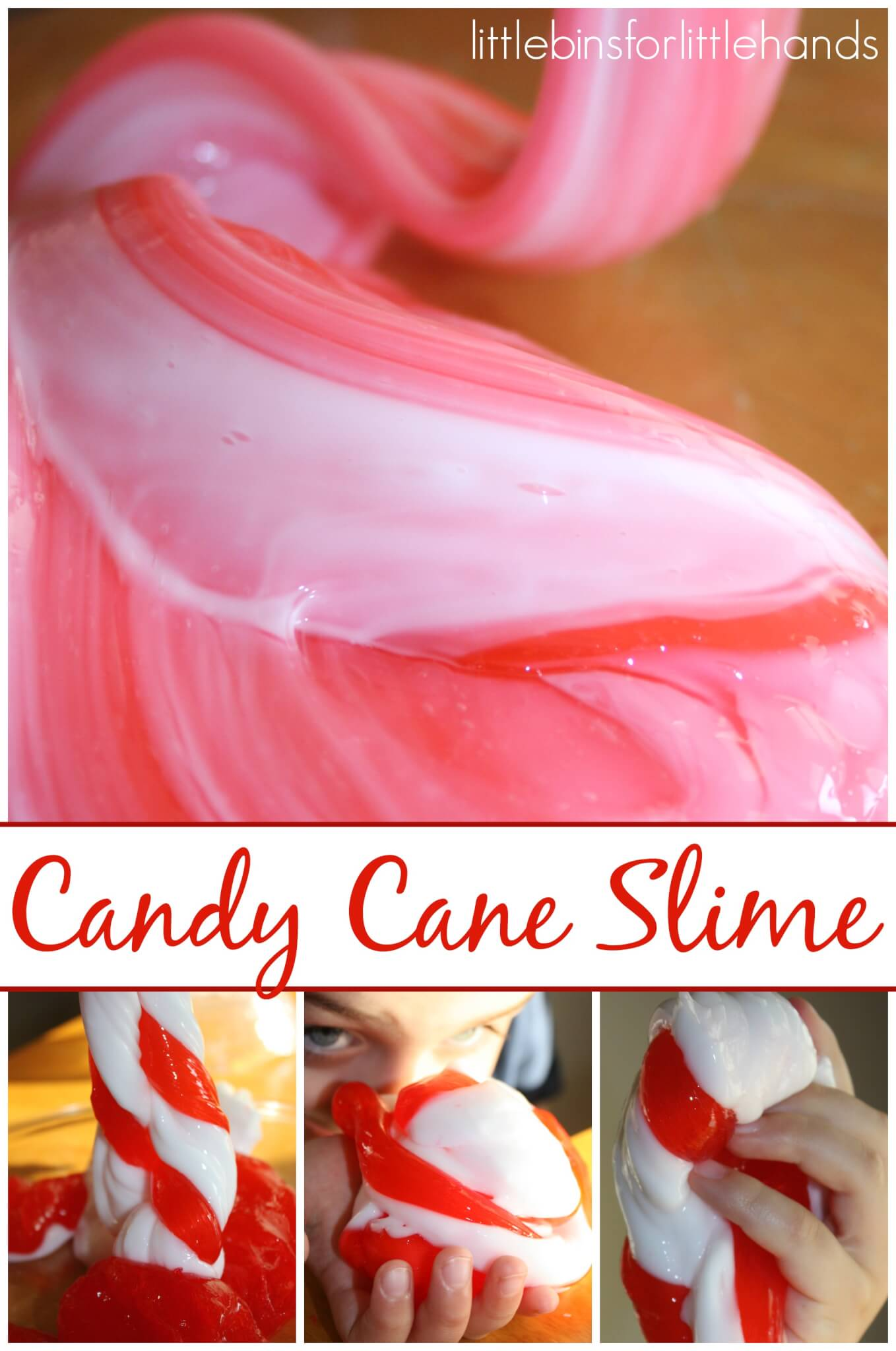 Candy Cane Slime Christmas Science Activity